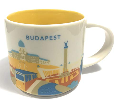 Starbucks Budapest You Are Here - Taza de café (16 onzas)