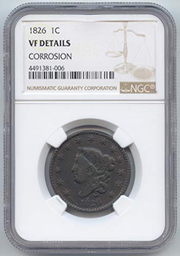 1826 Coronet Head Large Cent VF Details NGC