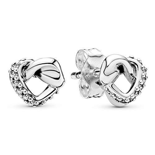 Pandora Mujer Plateado Pendientes de botón 298019CZ