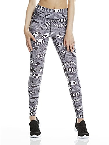 Bench Damen Bold Stripe AOP Leggings B, Black, L