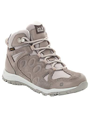 Jack Wolfskin Rocksand Texapore, Zapatos de High Rise Senderismo para Mujer, Beige (Moon Rock 5041), 35.5 EU