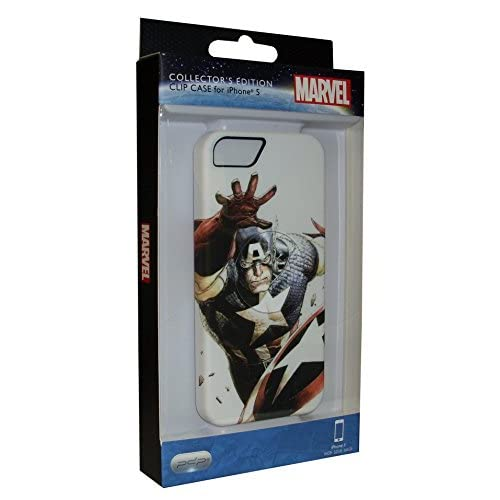 SBS IP1889EU Custodia Rigida in PVC per iPhone 5, Soggetto Turning Points - Captain America, Bianco