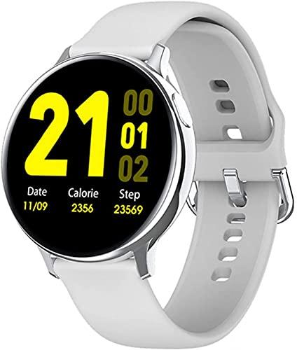 QLK Reloj inteligente para hombre y mujer SG2 390 * 390 HD esfera personalizada carga inalámbrica IP68 impermeable ECG PPG smartwatch para Android IOS (B)