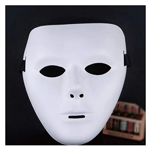 Heheng Hip-Hop-Tanzmaske Cosplay PVC Beleuchten Maske für Halloween Karneval Kostüm Anonymus Maske Maskerade Party (PVC dünne Männer)