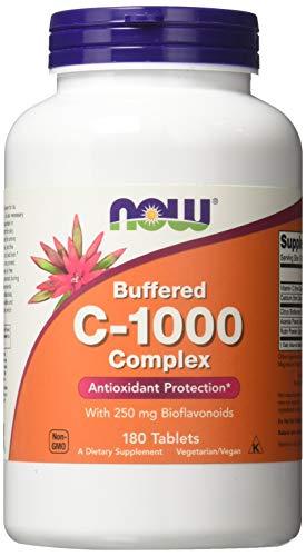 Vitamin C-1000 | Buffered C mit verzögerter Freisetzung | 180 Tabletten mit 250 mg Bioflavonoide | vegan und glutenfrei