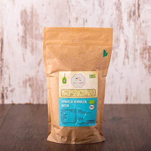 süssundclever.de® | Bio Mandeln gemahlen | braun | 1 kg | Premium Qualität: sehr fein gemahlen | qualitativ-hochwertiges Naturprodukt | 100% naturbelassen