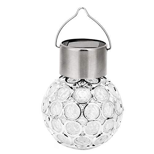 Wosune Lámpara Colgante LED de luz Solar, luz Colgante, para Patio, jardín, Dormitorio, Patio Trasero, Porche Delantero