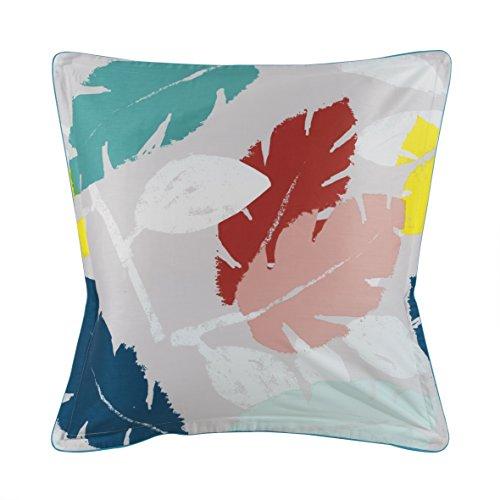 Essix - Taie d'oreiller Ramage Satin de coton Multicolore 64 x 64 cm