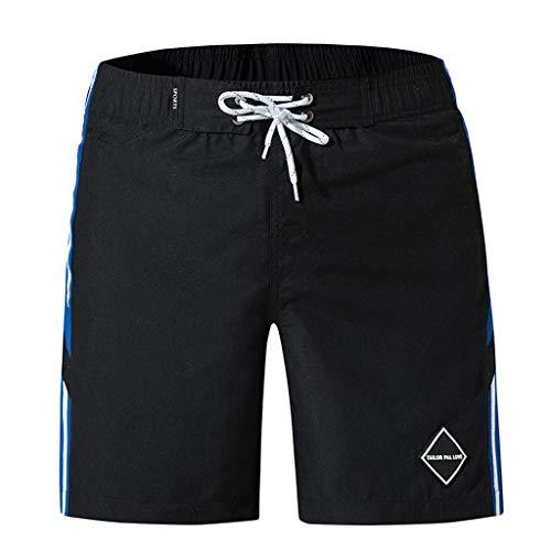 FRAUIT Zwembroek voor heren, casual, patchwork, strand, surfen, zwemmen, sport, los, korte broek, sneldrogend, surfen, strandbroek, licht ademende zakken, zwembroek