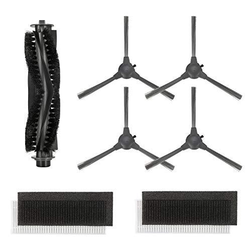 Bagotte BG600 / BG700 Saugroboter Zubehör, Staubsauger Roboter Ersatzteile (4xSeitenbürsten, 2xHEPA-Filter, 1xZentrale Bürste)