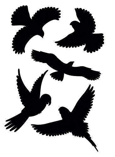 Gardigo Vogelschutz Aufkleber I Vogelsilhouetten I für Fenster, Türen, Wintergärten, Gewächshäuser I Fensterschutz vor Vogelschlag