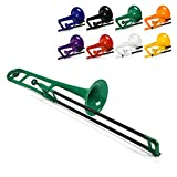 pInstrument Plastic pBone Trombone - Mouthpieces and Carrying Bag - Lightweight Versatile, Comfortable Ergonomic Grip - Bb Authentic Sound for Student & Beginner - Durable ABS Construction - Green
