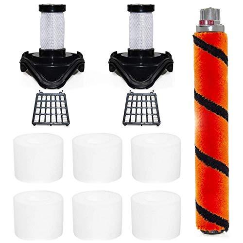 Haude Kit de Cepillo de Rodillo Filtro para Shark Flex DuoClean HV390, HV391, HV392 Piezas de Aspiradora