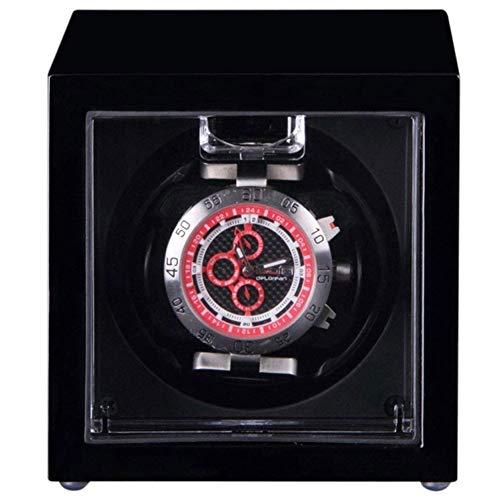 ZHANGYH Vibrador de Reloj mecánico Caja de bobinado automático de Madera para Reloj con Motor silencioso y de 4 Vueltas, alimentación de CA o alimentación por batería (c
