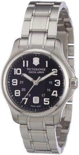 Victorinox Swiss Army - Reloj analógico de Cuarzo para Mujer con Correa de Acero Inoxidable, Color Plateado