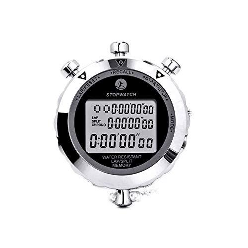 Rolilink Stopwatch Metal Stop Watch Timer 30 Lap Memory Coach Sports Timer