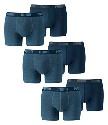 PUMA Herren Boxershorts Unterhosen 521015001 6er Pack , Wäschegröße:M;Artikel:-162 denim