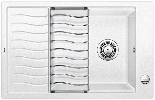 Blanco ELON XL 6S, cocina fregadero, SILGRANIT Puradur, Blanco, 518739