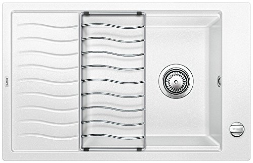BLANCO ELON XL 6 S Lavabo sobre-encimera Rectangular - Fregadero (Lavabo sobre-encimera, Rectangular, Blanco, 1 senos, Rectangular, 450 x 410 mm)