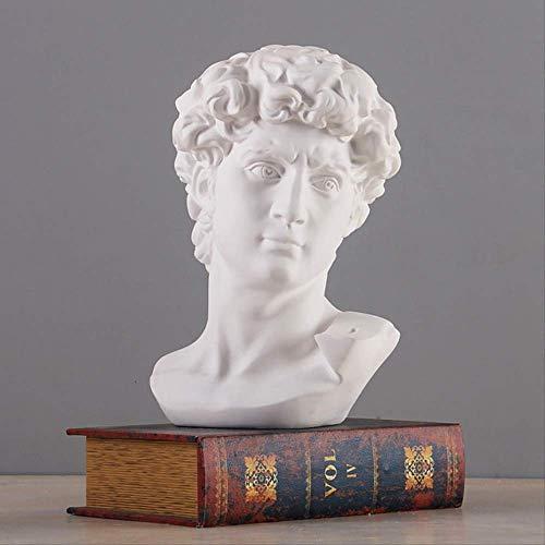 PRDECE Mitologia Greca David Testa Busto Statua Mini Europa Michelangelo Decorazione Domestica Resina Arte Artigianato Scultura Schizzo Pratica Regalo