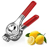 Limionix Citrus Lime Lemon Squeezer Stainless Steel, Fruit Manual Juicer Bar Tool, User-Friendly and Ergonomic Rubber Grip, Food Grade and Easy to Clean, Ideal for Bar, Kitchen