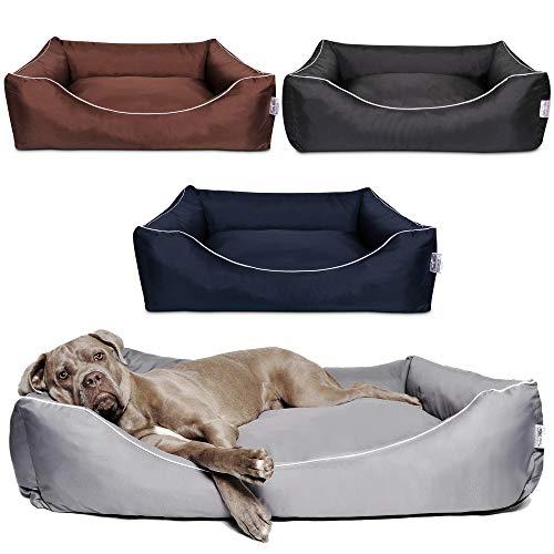 Tante Hilde Hundebett, Hundekorb, Hundekissen Norderney für kleine, mittlere und große Hunde, Waschbar, Robust, Größenauswahl, Hochwertige Qualität! (XL 80 x 60 cm, Blau)