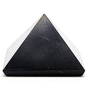 Polished Elite Shungite Power Pyramid from Karelia Russia - 2 inch