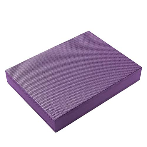 ABOOFAN Tragbares TPE-Balance-Pad, rutschfest, Yoga-Kissen, Stabilität, Mobilität, Balance-Trainer für Rumpftraining, körperliches Yoga (lila)