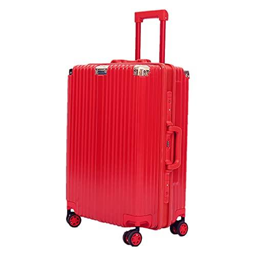 サコッシュ スーツケース アルミニウムマグネシウムフレーム機内持込 キャリーバッグ 大型 人気 TSAロック付 静音 旅行出張 旅行用 みスーツケース キャリーバッグ 静音キャスター 360°自由回転 軽量 キャリーケース 耐衝撃 キャリーケース (レッド,L)