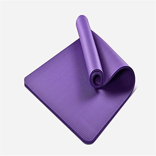 QGSM Esterilla de yoga para mujer, ideal para principiantes en el hogar, fácil de limpiar y almacenar, adecuado para yoga aeróbicos y otros deportes, morado 183 cm x 61 cm x 1 cm
