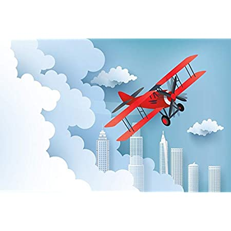 6x4ft Cartoon Plane Photo Banner Aviator Themed Party Photography Backdrop Props for Kids Baby HXFU172