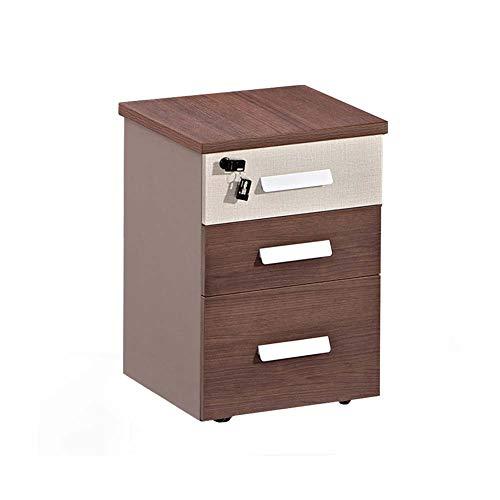 LUUDE Mobiler Aktenschrank aus Holz, 3-Schubladen-Datenschrank mit Schloss, Büromöbelprogramm von Relax Office Furniture,Style3