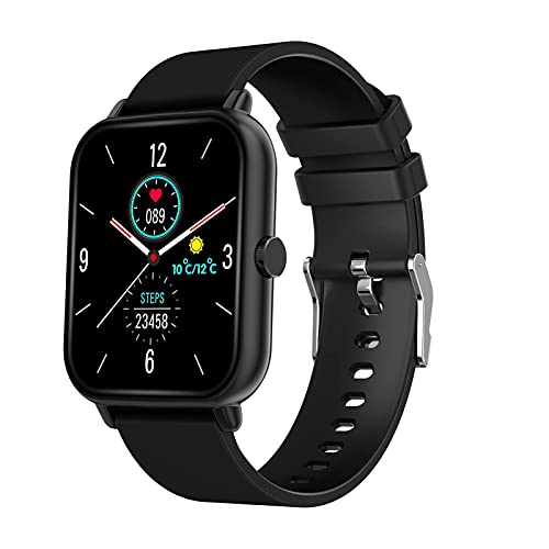XYJ Smart Watch Fitness Tracker Fitness Watch con monitor de ritmo cardíaco Step Calorie Counterie Tracker Actividad Pedómetro impermeable Compatible para IOS Android Mujeres Hombres Bluetooth (Color: