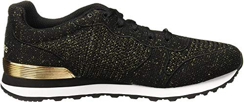 Skechers Damen Og 85 - Low Flyers Sneaker, Schwarz (Black/Gold), 38 EU