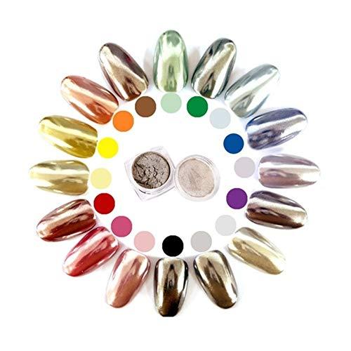 SSGLOVELIN Miroir d'argent Clou Poudre poussière Shinning Chrome Pigment manucure cosmétiques Poudre Beau (Color : Random Color)