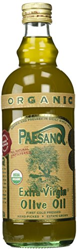 Paesanol ORGANIC UNFILTERED Extra Virgin Olive Oil 33.8 Fl Oz Glass