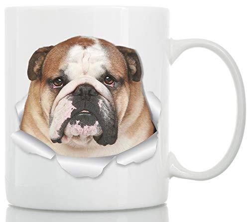 Lustige Bulldoggen-Tasse - Englische Bulldogge Keramik-Kaffeetasse - perfektes Bulldoggen-Geschenk - lustige süße Bulldogge Kaffeetasse für Hundeliebhaber...
