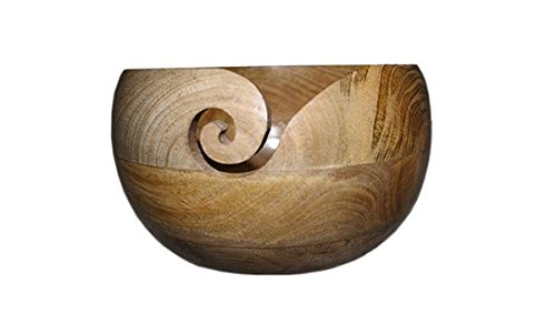 yarn hut wooden bowl