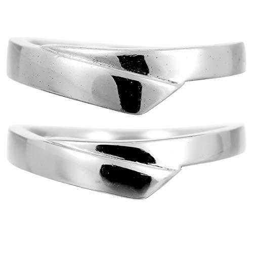 [ココカル]cococaru ペアリング シルバー リング2本セット マリッジリング 結婚指輪 日本製 (レディースサイズ17号 メンズサイズ2号)