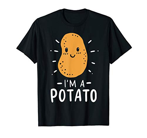 Potato Lazy Costume Halloween Vegan Kawaii T-Shirt