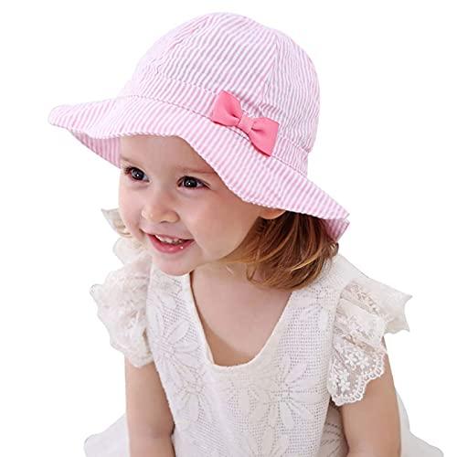 Sunowo Mädchen Sommer Sonnenhut, Sonnenhut Baby Faltbarer Fischerhut Sommer Sonnenschutz Eimer Hut 100% Baumwolle Sonnenhut Baby UV-Schutz 50 Sommermütze Mädchen Kleinkind