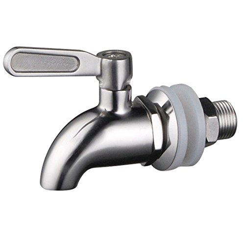 BTSKYStainless Steel Beverage Dispenser Replacement Spigot Fits 16mm(5/8 inch)Opening - No Lead Dispenser Replacement Faucet, Polished Finish