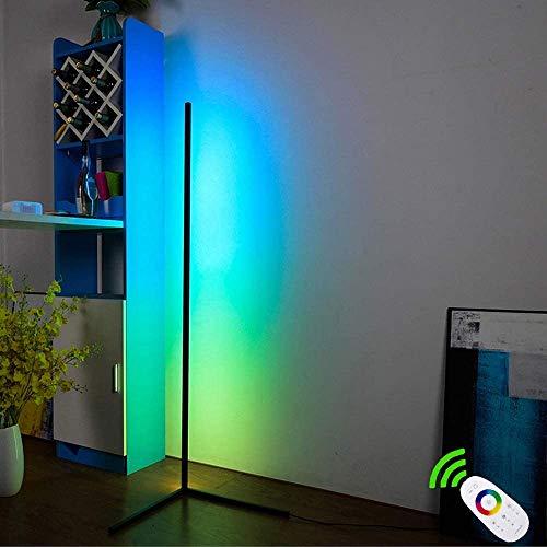 RGB Stehlampe 20W LED Deckenfluter Dimmbar Stehleuchte zum im Wohnzimmer Schlafzimmer Büro, RGBCW, 2700K-6500K, mit Fernbedienung 1 (RGB - Stehleuchte)