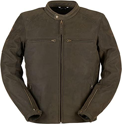6008-8 XL - Furygan Vince V3 Leather Motorcycle Jacket XL Brown