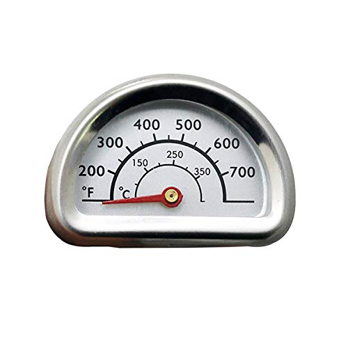 Uniflasy Stainless Steel Repair Replacement Part Temperature Gauge Heat Indicator for Select Charbroil and Kenmore Gas Grill Models, 1 Pack
