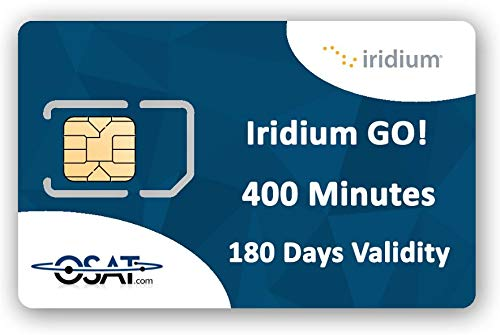OSAT Iridium GO! SIM Prepago con 400 Minutos de Datos / 200 Minutos de Voz