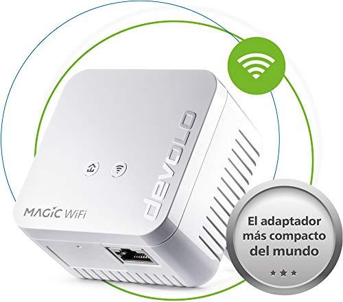 Devolo Magic 1 WiFi mini: aanvullende adapter voor betrouwbare wifi, eenvoudig via stroomleiding door muren en plafonds, mesh, G.hn-technologie, gasten-wifi, Zwitserse stekker