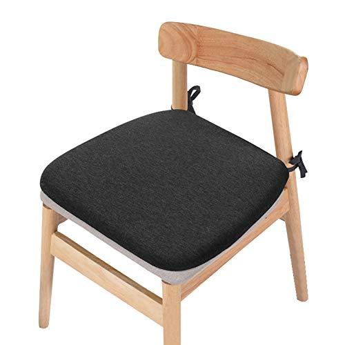 HIKOTO低反発 椅子用 クッション 座布団 長時間 ダイニングチェア クッション オフイス チェア ゼロ 座面 クッション いす用 ふわふわ ざぶとん 馬蹄形 座椅子 シートクッション 車椅子用クッション ブラック