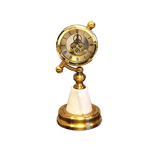 LUCY STORE Home Bedroom Bedside Table Marble Seat Clock Pendulum Living Room Creative Clock Decoration 1228CM