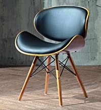 folk Krzesło do salonu krzesło do jadalni krzesło biurowe designerskie sztuczna skóra z litego drewna orzechowego Eiffel w...